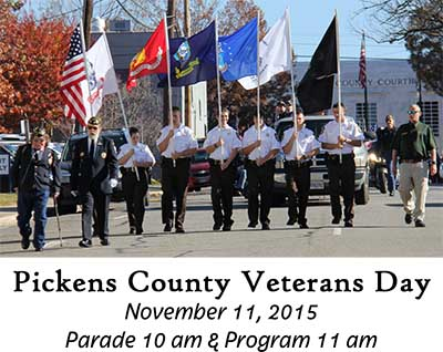 Pickens County Veterans Day Activities