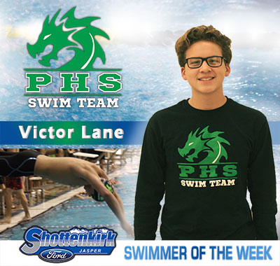 Victor Lane is the First PHS Swimmer of the Week