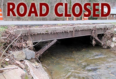 West Price Creek Road Closed for Bridge Repair