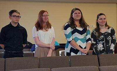 Some of the Pickens Youth Leadership class attended the meeting.