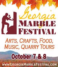 Georgia Marble Festival October 7 & 8