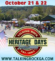 Talking Rock Heritage Days Festival October 21 & 22