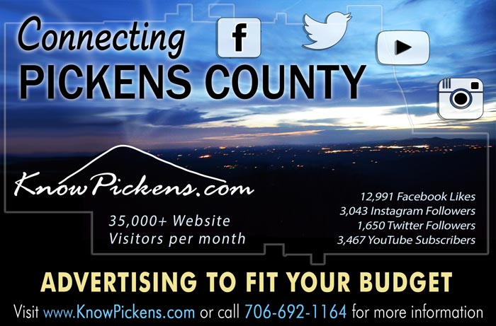 Affordable advertising starting at $150 per year on KnowPickens.com