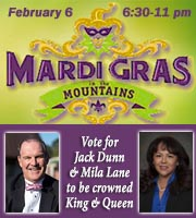 Mardi Gras in the Mountains - February 6, 2015 - Vote for Pickens County Representatives Mila Lane and Jack Short