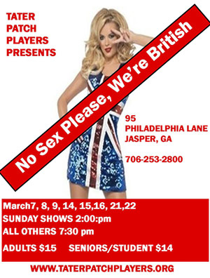 Tater Patch Players 'No Sex Please, We're British' Opens March 7th