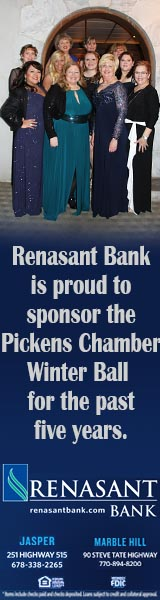 Renasant Bank is proud to sponsor the Winter Ball for five years.